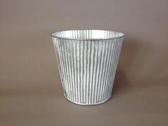 A310KM Cache-pot en zinc blanchi D13cm H12cm