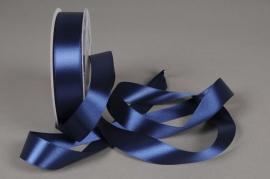 A310UN Dark blue satin ribbon 25mm x 50m