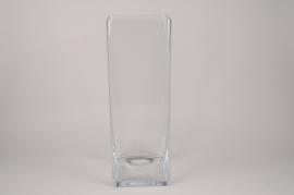 A311I0 Vase en verre 20x20cm H60cm