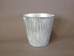 A311KM Cache-pot en zinc blanchi D16cm H14cm