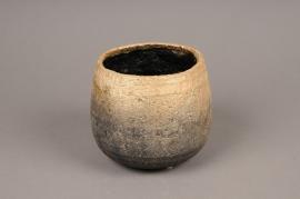 A312HX Cache-pot  en céramique or H12cm