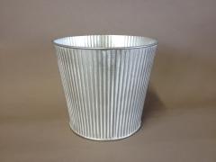 A312KM Cache-pot en zinc blanchi D18cm H17cm