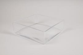 A315I0 Coupe carrée en verre 25x25cm H8cm