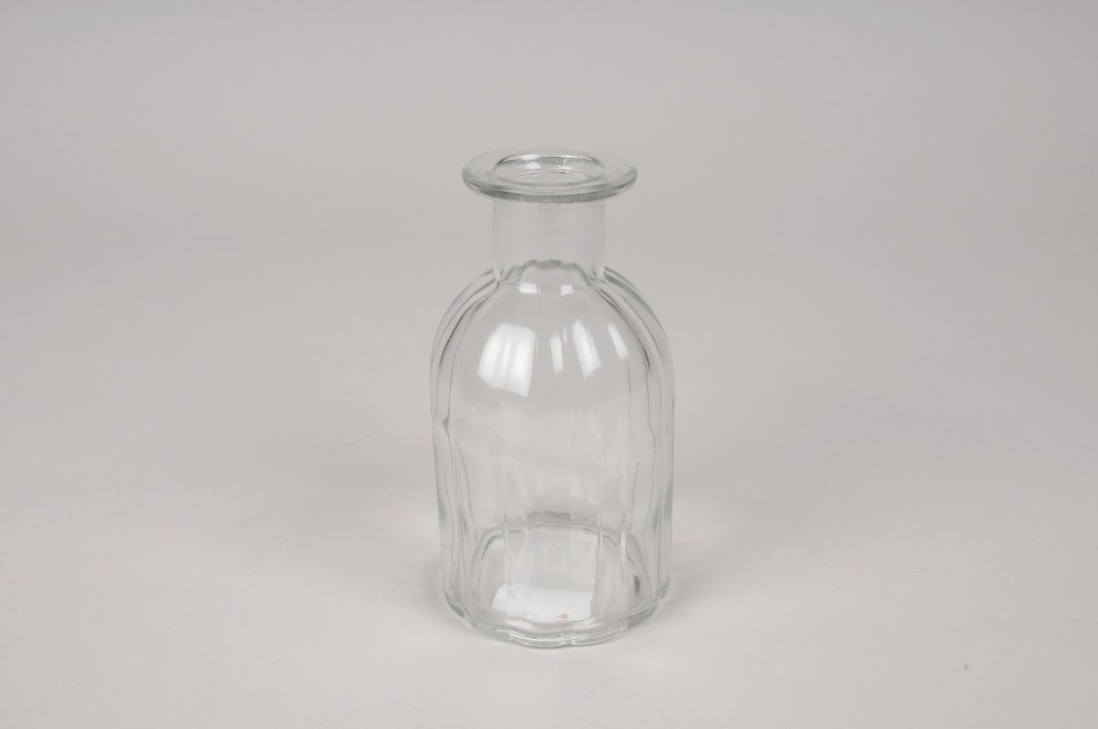 A316I0 Vase bouteille en verre D7.5cm H14cm