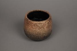 A319HX Cache-pot en céramique cuivre D14cm H12cm