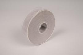 A319UN Grey velvet ribbon 25mm x 7m