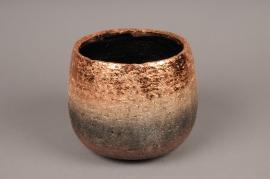 A320HX Cache-pot céramique cuivre H14cm