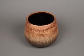 A321HX Cache-pot en céramique cuivre D21cm H17cm