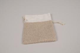 A323UN Paquet de 10 sacs en lin naturel 15x10cm