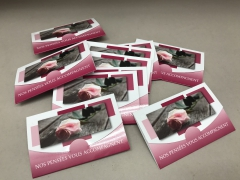A324MQ Pack of 10 postcards Nos pensées vous accompagnent