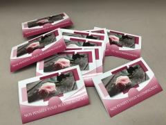 A324MQ Pack of 10 postcards Nos pensées vous accompagnent