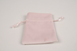 A325UN Pack of 10 velvet bags pink 12x9cm