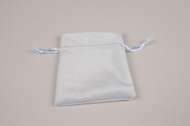 A326UN Pack of 10 velvet bags blue 12x9cm
