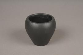 A328HX Cache-pot céramique noir H8cm
