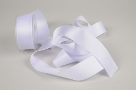 A328UN Ruban satin blanc 40mm x 15m