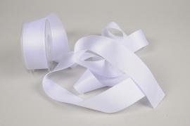 A328UN White satin ribbon 40mm x 15m