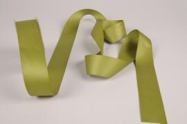 A330UN Green satin ribbon 40mm x 15m