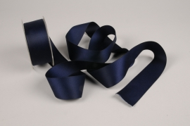 A331UN Blue satin ribbon 40mm x 15m