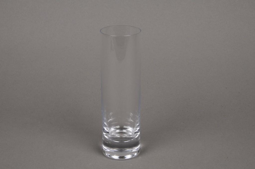 A333W3 Vase en verre soliflore cylindre D5cm H20cm