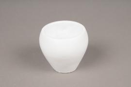A334HX Cache-pot céramique blanc H8cm
