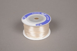 A337UN Ruban satin ivoire 3mm x 100m