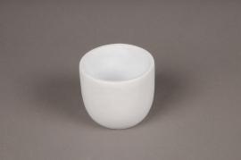 A345HX Cache-pot en céramique blanc D7.5cm H6.5cm