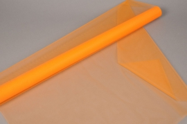 A347GM Orange tulle roll 75cm x 10m