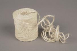 A348UN Rouleau fil de jute blanchi 70m