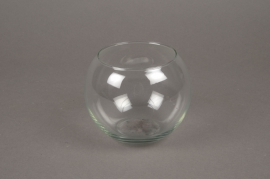 A349IH Vase en verre boule D11cm H10cm