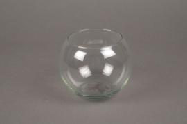 A349IH Vase glass sphere D11cm H10cm