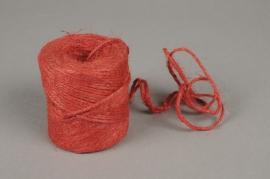 A350UN Rouleau fil de jute rouge 70m