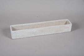 A353HX Jardinière en ciment gris 11cm x 60.5cm H9cm
