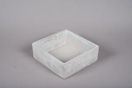 A354HX Grey cement gardenenr 20.5cm x 20.5cm H7.5cm