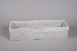 A355HX Jardinière en ciment gris 18cm x 60cm H14cm