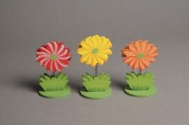 A360E9 Set of 6 flower cardholders H9cm