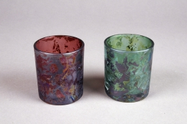 A360U7 Assorted glass candle jar D7cm H8cm