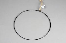 A361U7 Cercle métal noir D28cm