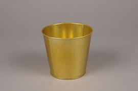 A362KM Cache-pot en zinc or D11cm H10.5cm