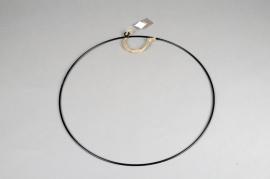 A362U7 Cercle métal noir D38cm