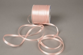 A364UN Pink satin ribbon 6mm x 100m