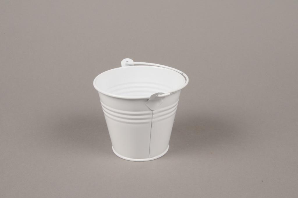 A365KM White Bucket zinc D8.5cm H8cm
