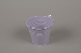 A366KM Lavender Bucket zinc D8.5cm H8cm