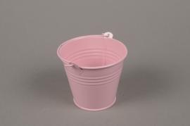 A367KM Pink Bucket zinc D8.5cm H8cm