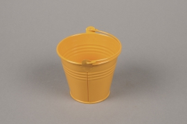 A368KM Orange Bucket zinc D8.5cm H8cm
