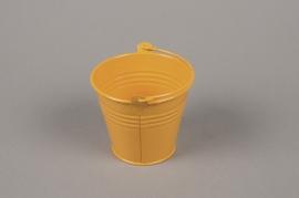 A368KM Seau en zinc mandarine D8.5cm H8cm