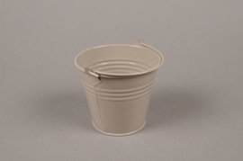 A369KM Brown Bucket zinc D8.5cm H8cm