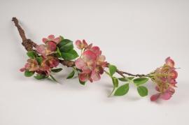 a371nn Branche de cerisier artificiel bordeaux H76cm