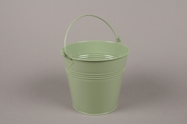 A372KM Bucket zinc green D10cm H11cm