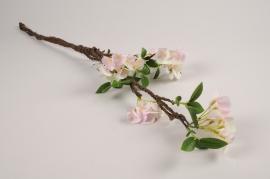 a372nn Branche de cerisier artificiel rose H76cm