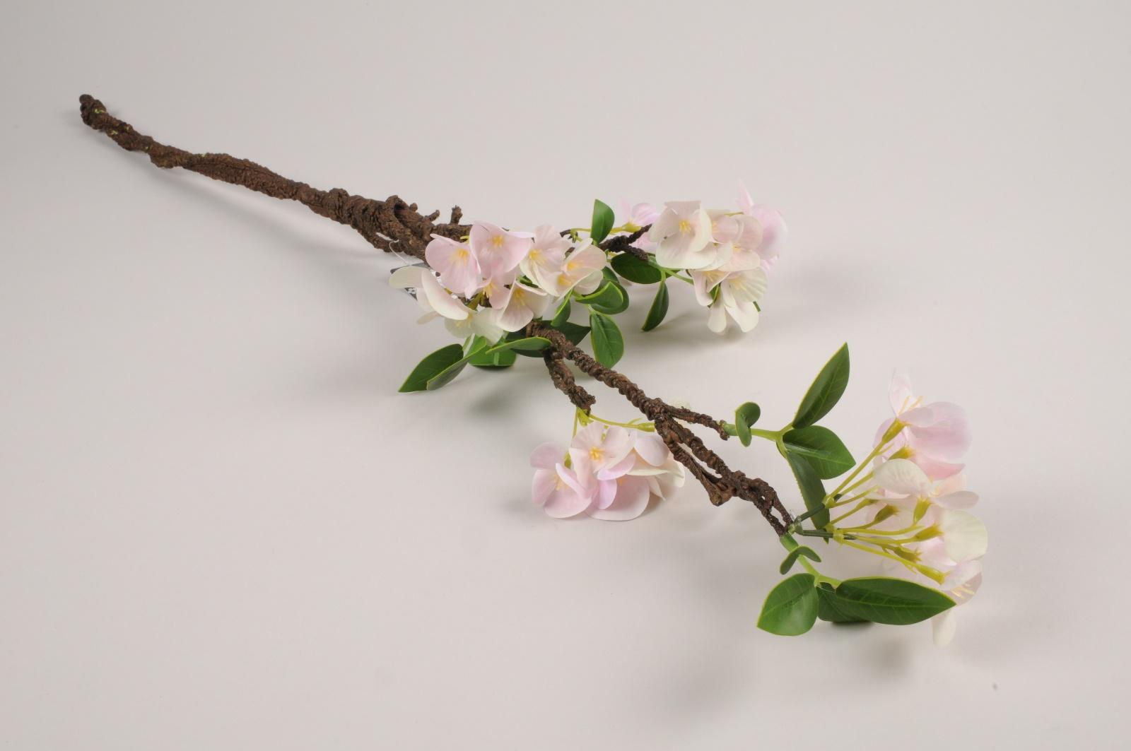 a372nn Branche de cerisier artificielle rose H76cm